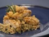 Пилешки пържоли с гарнитура от ориз